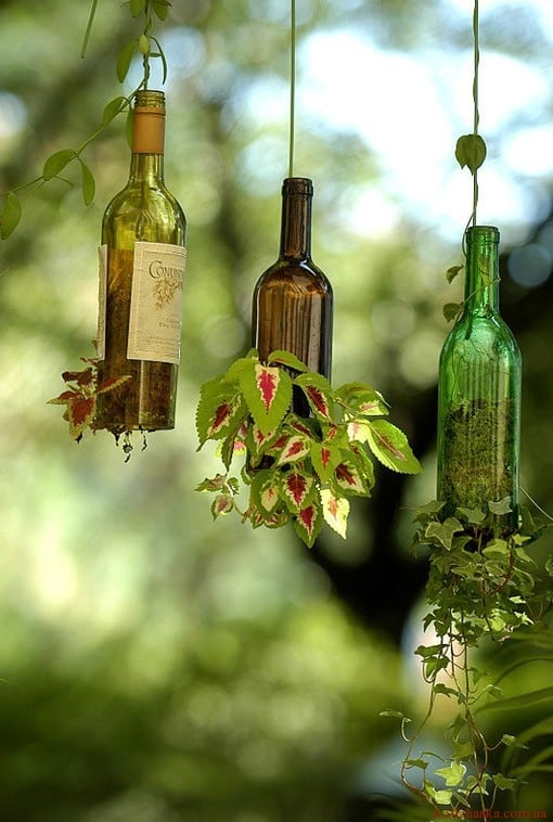 Використання пляшок в інтер'єрі. Декілька простих прикладів