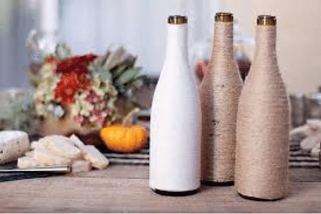 Використання пляшок в інтер'єрі: декілька простих прикладів