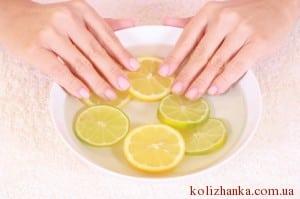 ванночка для нігтів з цитрусами