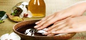 ванночки-для-рук, нігтів з оливковим маслом