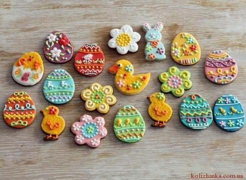 Пасхальные печенья с глазурью  пошаговый рецепт с фото на