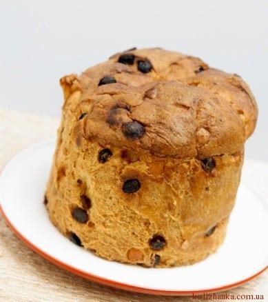Фото і рецепт паски із родзинками (ізюмом)