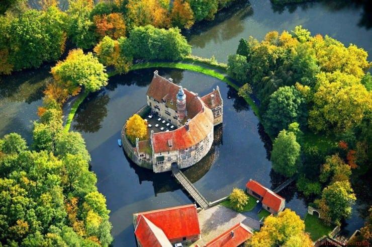Vischering замок, Lüdinghausen, Північний Рейн-Вестфалія, Німеччина