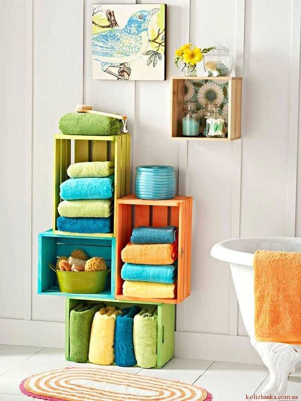 Дерев'яні ящики для ванної