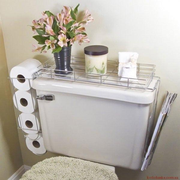 місце для туалетного паперу у ванній