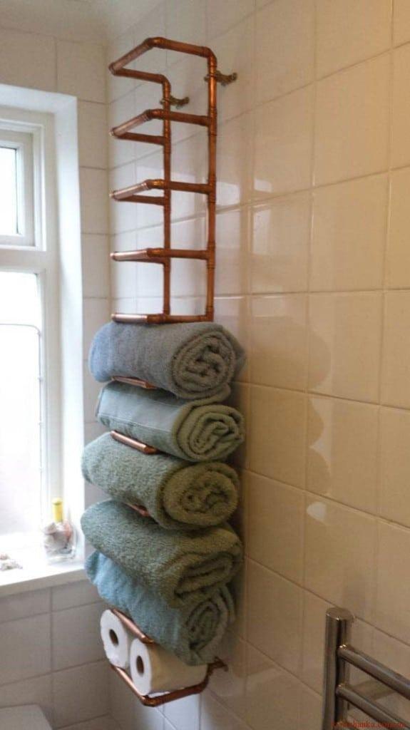 мідна труба для рушників у ванній
