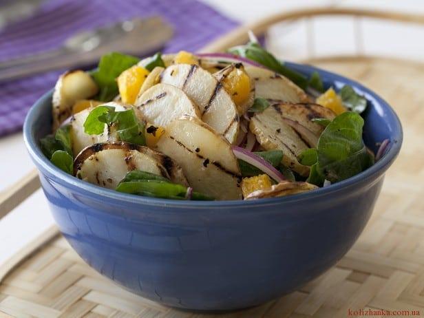 Салат з картоплею-гриль