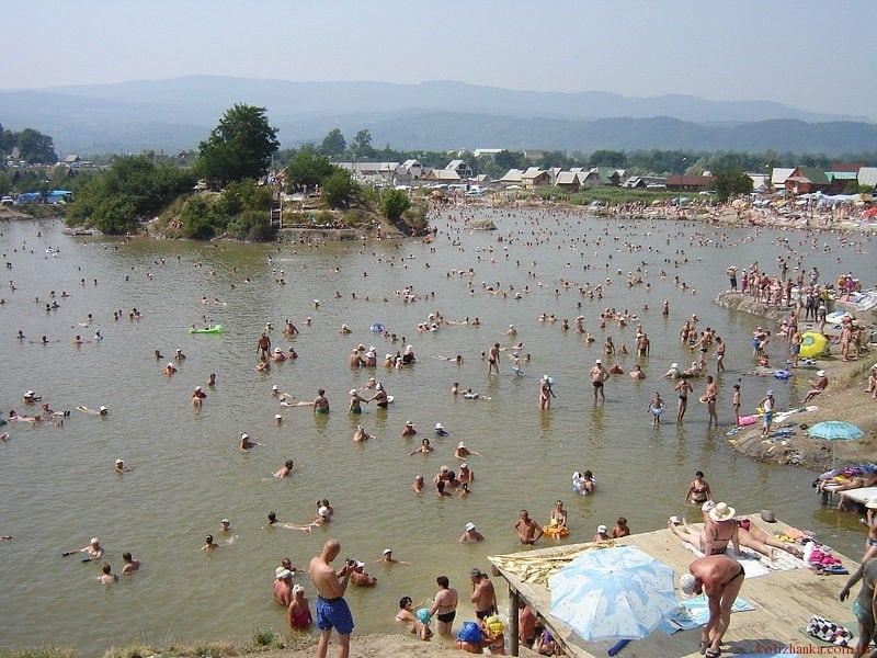 Солотвино, фото солоні озера