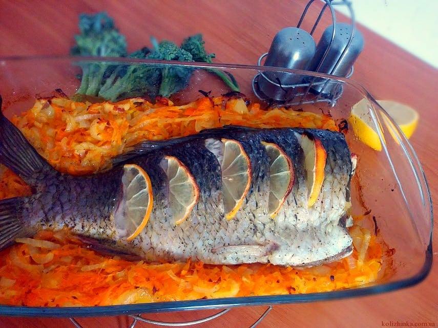 Короп, запечений з овочами – рецепт приготування