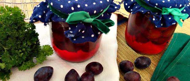 Слива маринована - оригінальна закуска на зиму