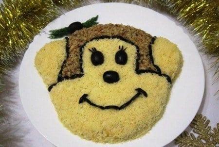 Новорічний салат «Мавпа»