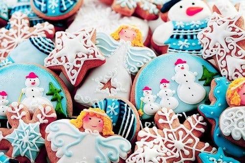 Імбирні новорічні пряники з глазур'ю