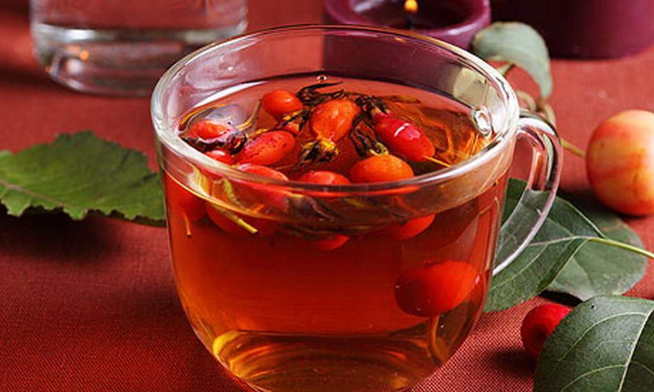 Чай із шипшини з медом