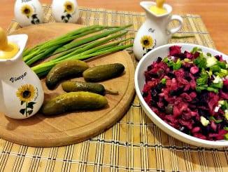 Вінегрет. Рецепт салату з квасолею та квашеною капустою