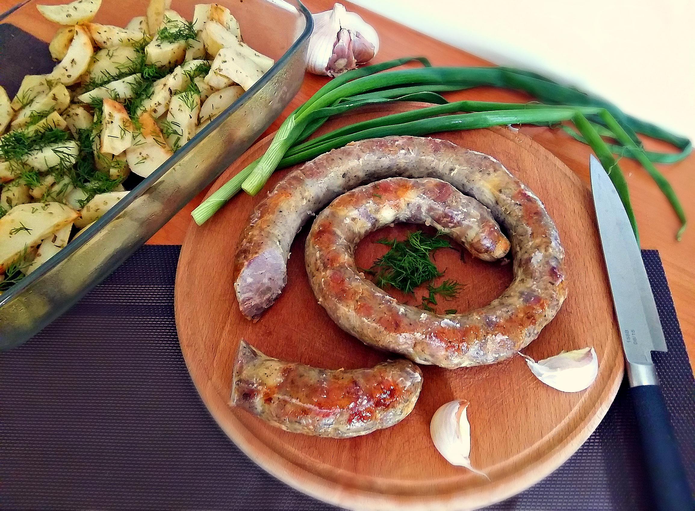 Домашня ковбаса. Покроковий рецепт з фото