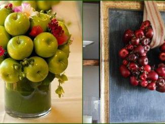Осінні композиції з яблуками. 30+ ідей з фото