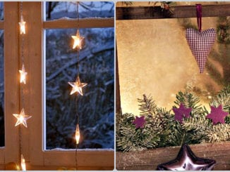 40+ простих способів як прикрасити вікна до зимових свят. Фото