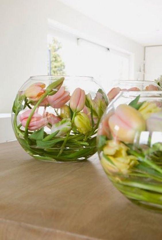 Весняна флористика. Фото-ідеї декору з тюльпанами (10)