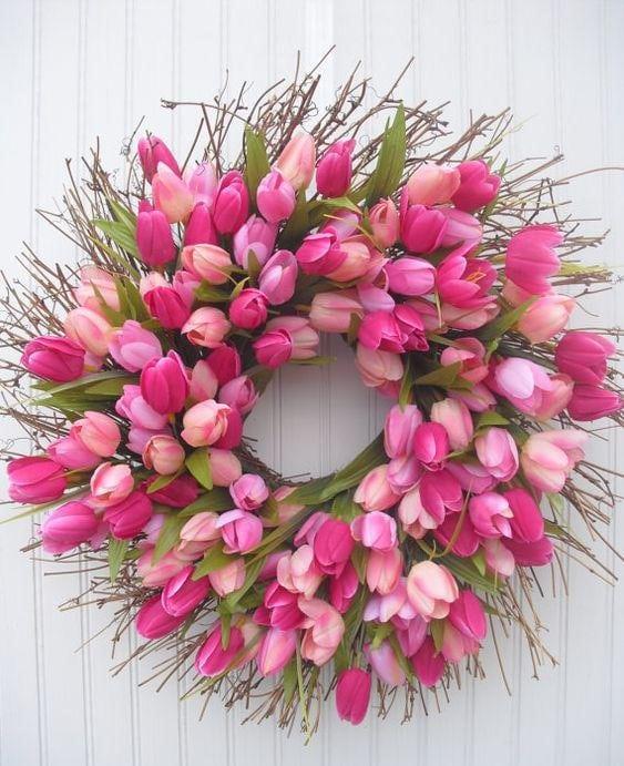 Весняна флористика. Фото-ідеї декору з тюльпанами (12)