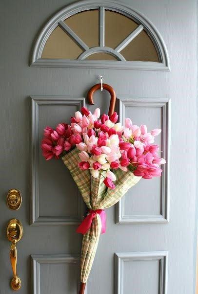 Весняна флористика. Фото-ідеї декору з тюльпанами (13)