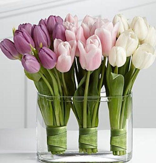 Весняна флористика. Фото-ідеї декору з тюльпанами (14)