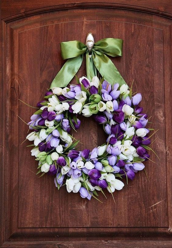 Весняна флористика. Фото-ідеї декору з тюльпанами (19)