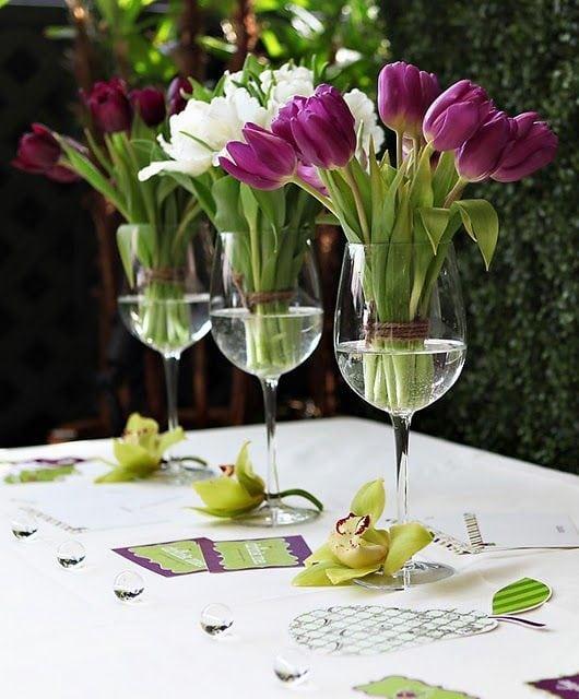 Весняна флористика. Фото-ідеї декору з тюльпанами (2)