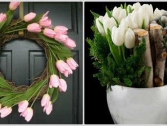 Весняна флористика. Фото-ідеї декору з тюльпанами (21)