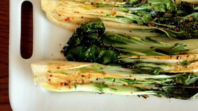 Запечена пекінська капуста в пряному соусі