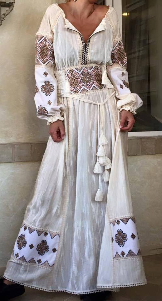 Сучасні вишиті сукні (30 фото) (15)