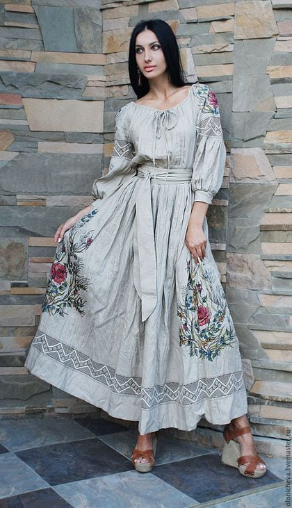 Сучасні вишиті сукні (30 фото) (24)