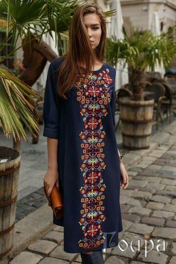 Сучасні вишиті сукні (30 фото) (3)