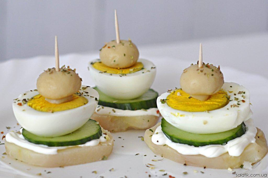 Простые закуски 25 интересных канапе на шпажках (фото) (23)