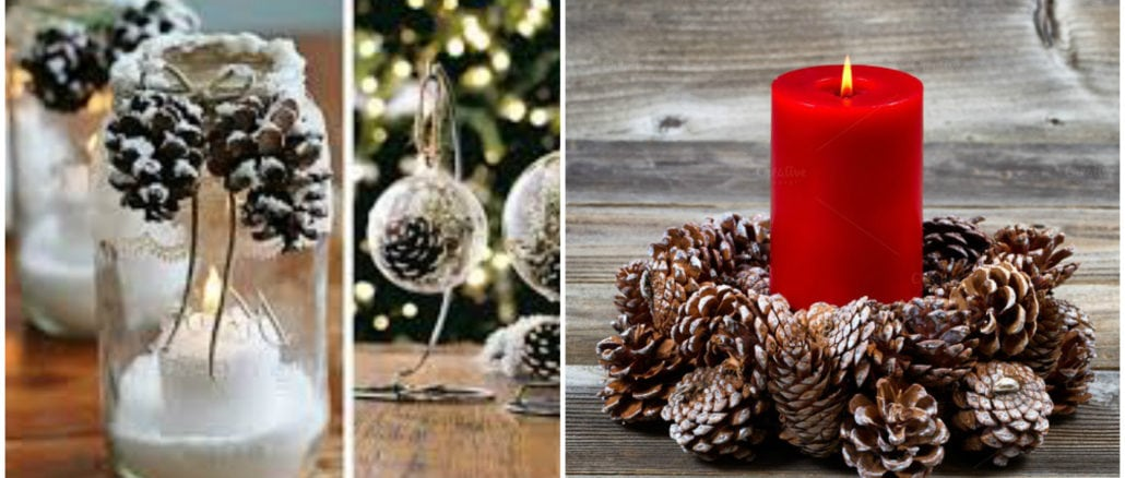 Декор із шишок ялинки, віночки, новорічні прикраси