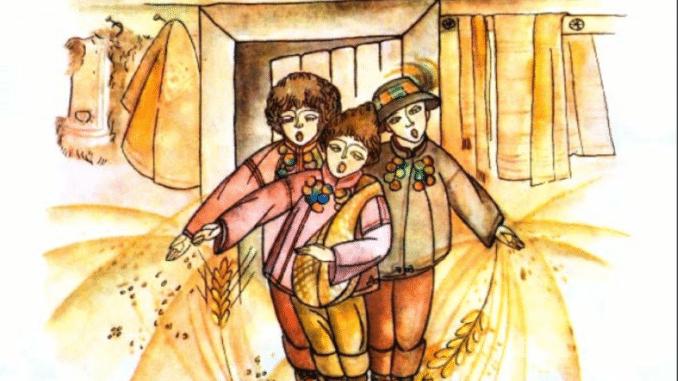 Засівання на старий Новий рік для дітей українською мовою