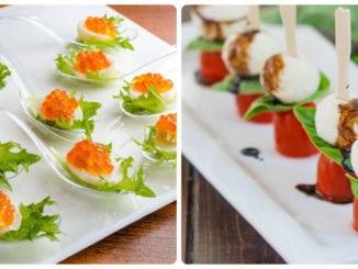 Порційні закуски на святковий стіл (фуршет): 50 фото-ідей
