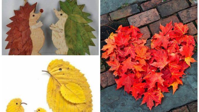Дитячі аплікації з осіннього листя: 25 ідей для творчості (фото)