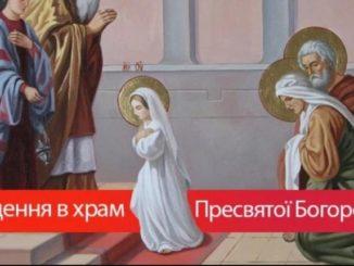 """4 грудня - Введення, або """"Третя Пречиста"""": історія, звичаї, прикмети"""