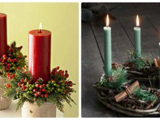 декор різдвяної свічки