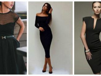 Шиємо маленьку чорну сукню: добірка модних фасонів (30 фото)