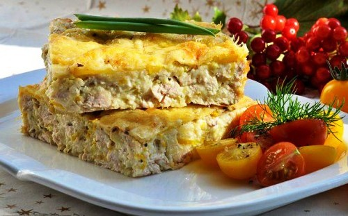 Запіканка з куркою і овочами